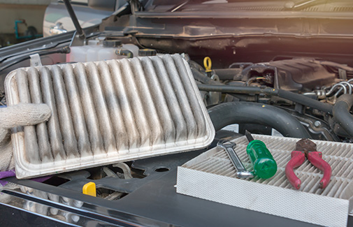 ENGINE AIR FILTER & HEPA CABIN FILTER REPLACEMENT